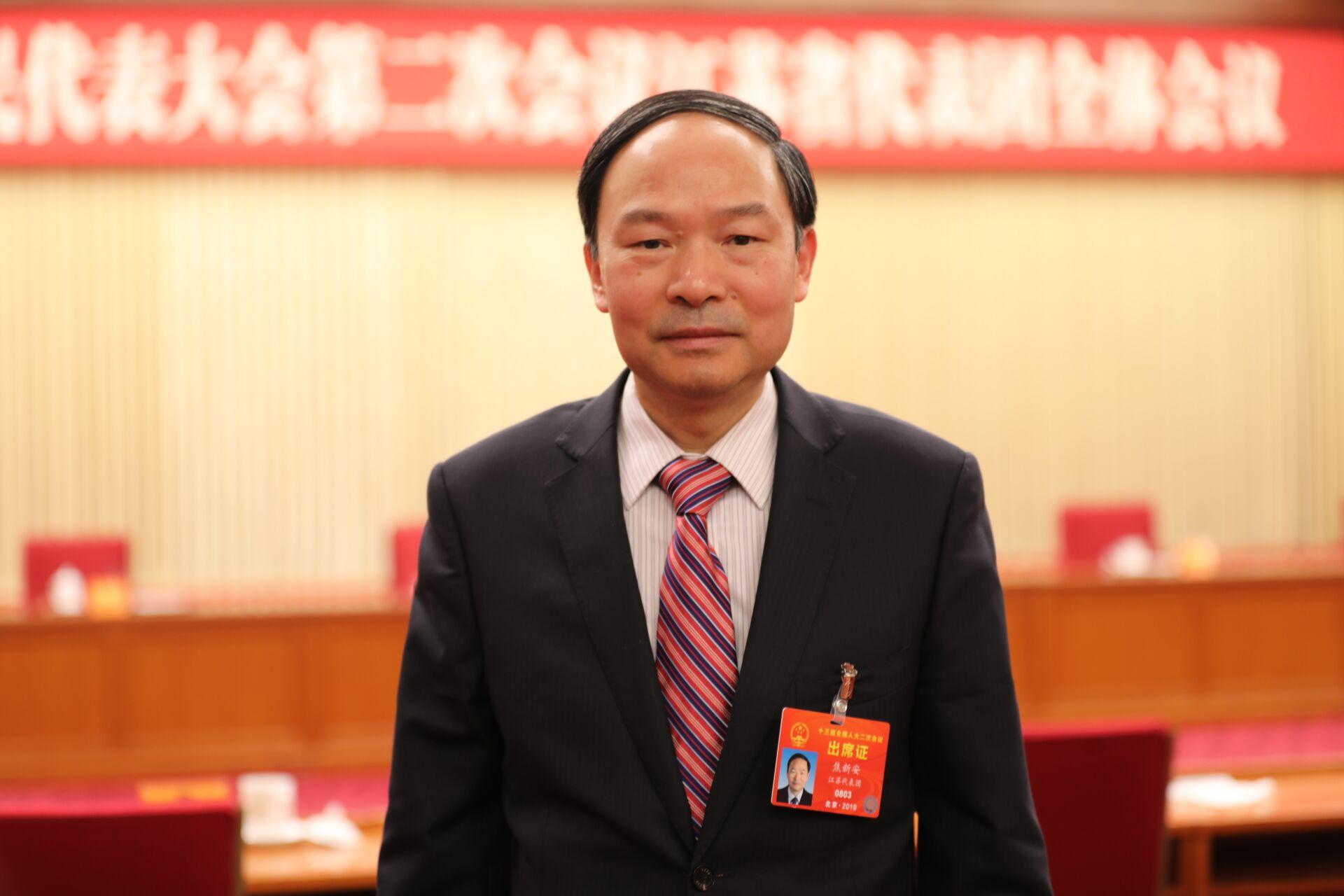 全国人大代表、扬州大学校长焦新安