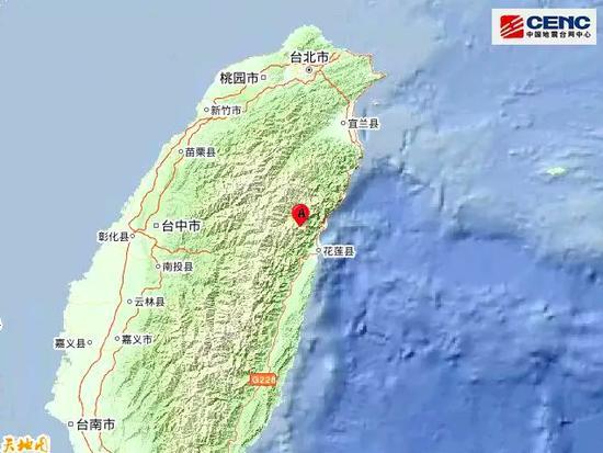 震中地形。来源:中国地震台网中心