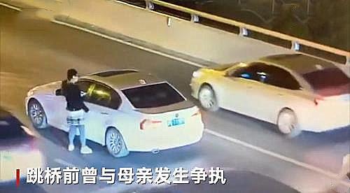 上海卢浦大桥男孩跳桥全程视频曝光 上海17岁男孩跳桥