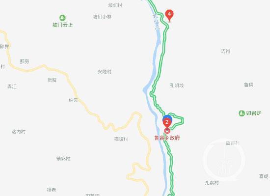 ▲贵州贞丰县船舶翻覆事发地理位置。