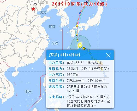 """2019台风最新消息!今年第10号台风""""罗莎"""""""